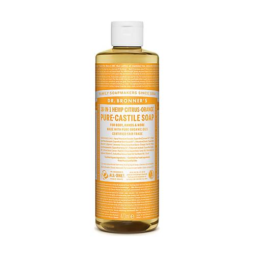 DR BRONNER'S CITRUS PURE-CASTILE LIQUID SOAP - 473ML