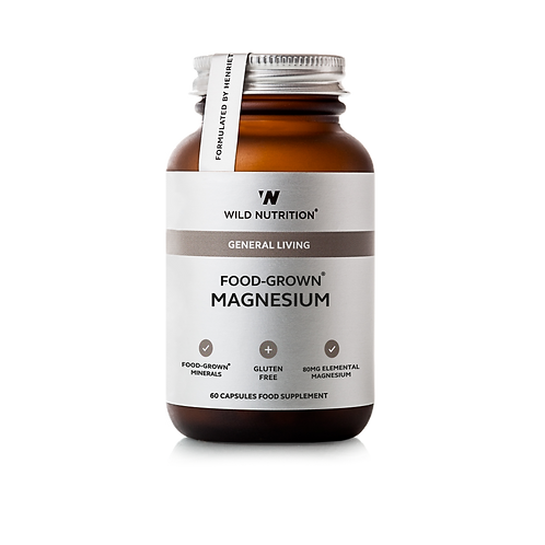 WILD NUTRITION FOOD-GROWN MAGNESIUM (60 CAPS)