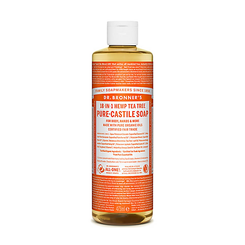 DR BRONNER'S TEA TREE PURE-CASTILE LIQUID SOAP - 473ML