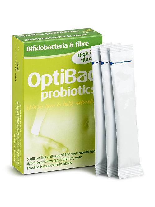 OPTIBAC PROBIOTICS BIFIDOBACTERIA & FIBRE (10 SACHETS)