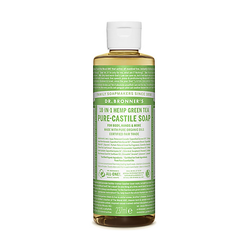 DR BRONNER'S GREEN TEA PURE-CASTILE LIQUID SOAP - 237ML