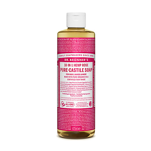DR BRONNER'S ROSE PURE-CASTILE LIQUID SOAP - 473ML