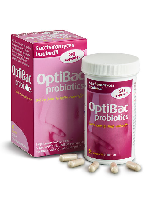 OPTIBAC PROBIOTICS SACHAROMYCES BOULARDII (80 CAPS)