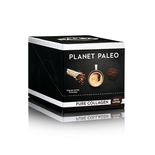 PLANET PALEO PURE COLLAGEN KETO COFFEE 15 SACHETS
