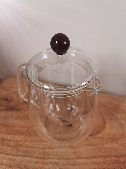 GLASS TEAPOT WITH STAINLESS STEEL INFUSER (600ml)