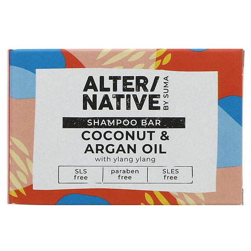 ALTER/NATIVE SOLID SHAMPOO BAR COCONUT & ARGAN OIL