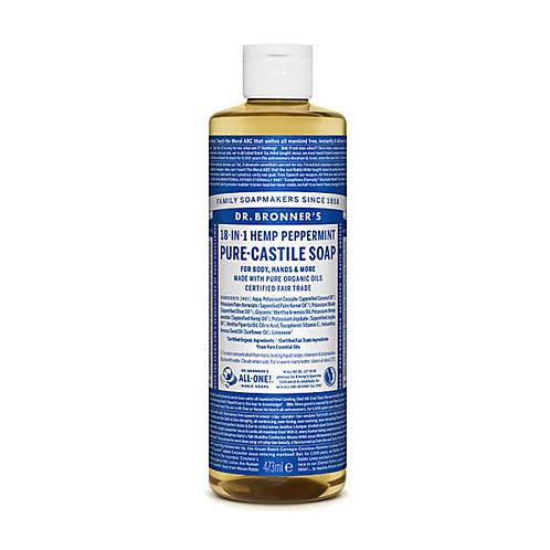DR BRONNER'S PEPPERMINT PURE-CASTILE LIQUID SOAP - 473ML