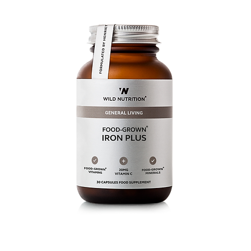 WILD NUTRITION FOOD-GROWN IRON PLUS (30 CAPS)