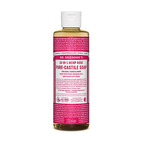 DR BRONNER'S ROSE PURE-CASTILE LIQUID SOAP - 237ML
