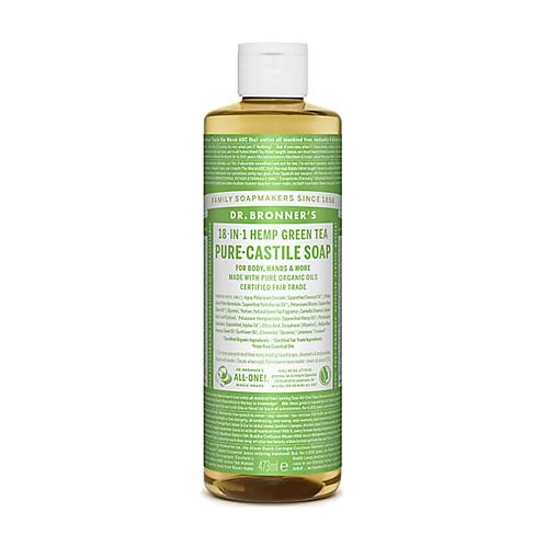 DR BRONNER'S GREEN TEA PURE-CASTILE LIQUID SOAP - 473ML