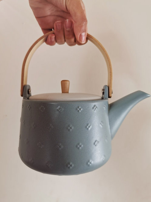 TEAPOT & STAINLESS STEEL INFUSER TEAL (900ml)