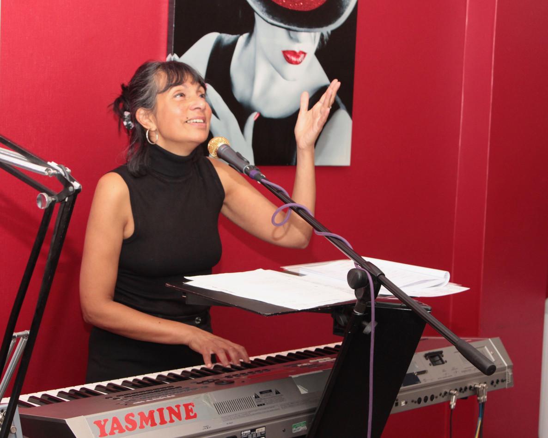 Yasmine performing on National Album Day
