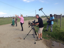 Filming on location in Kenya