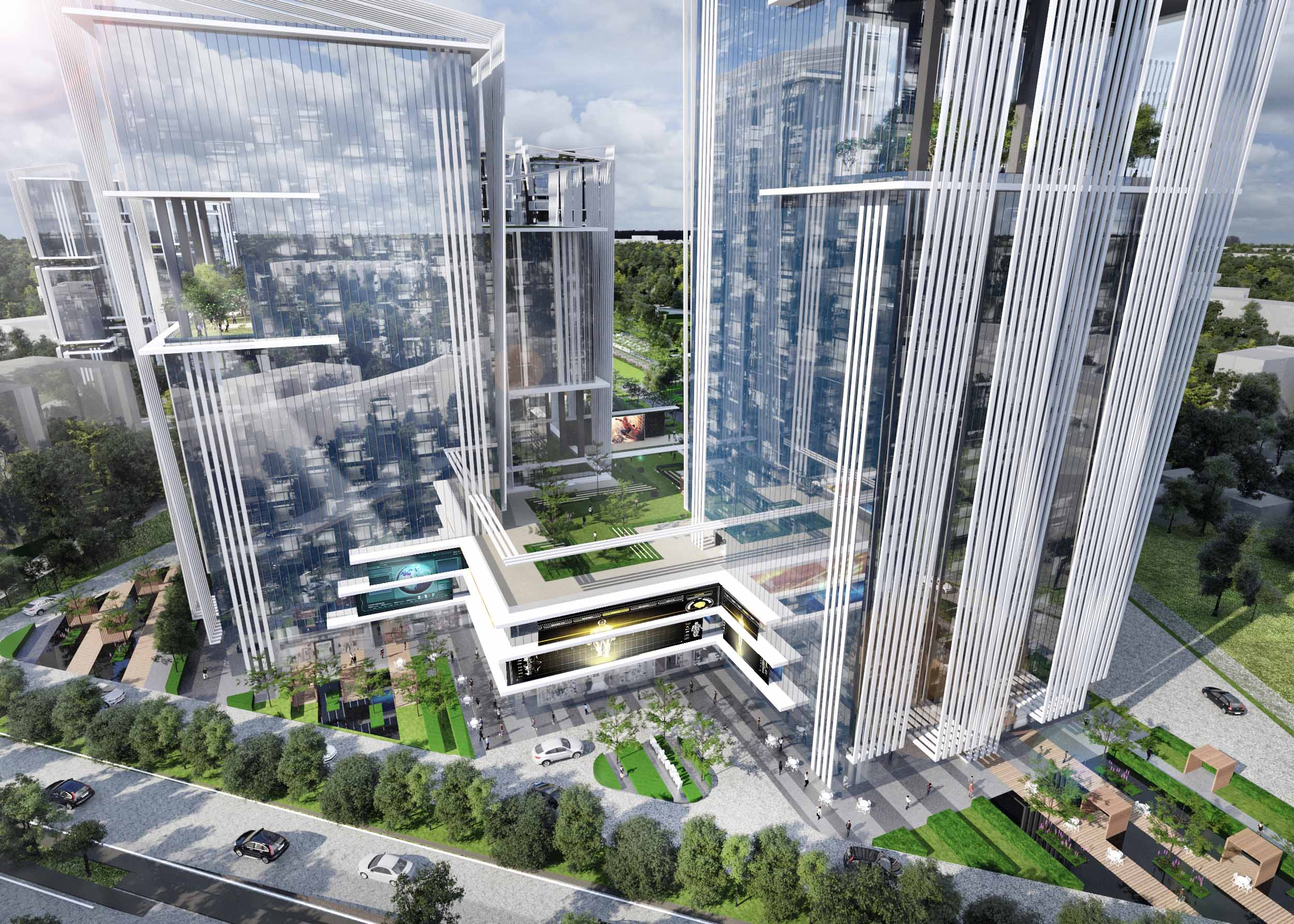 Retail + Office towers