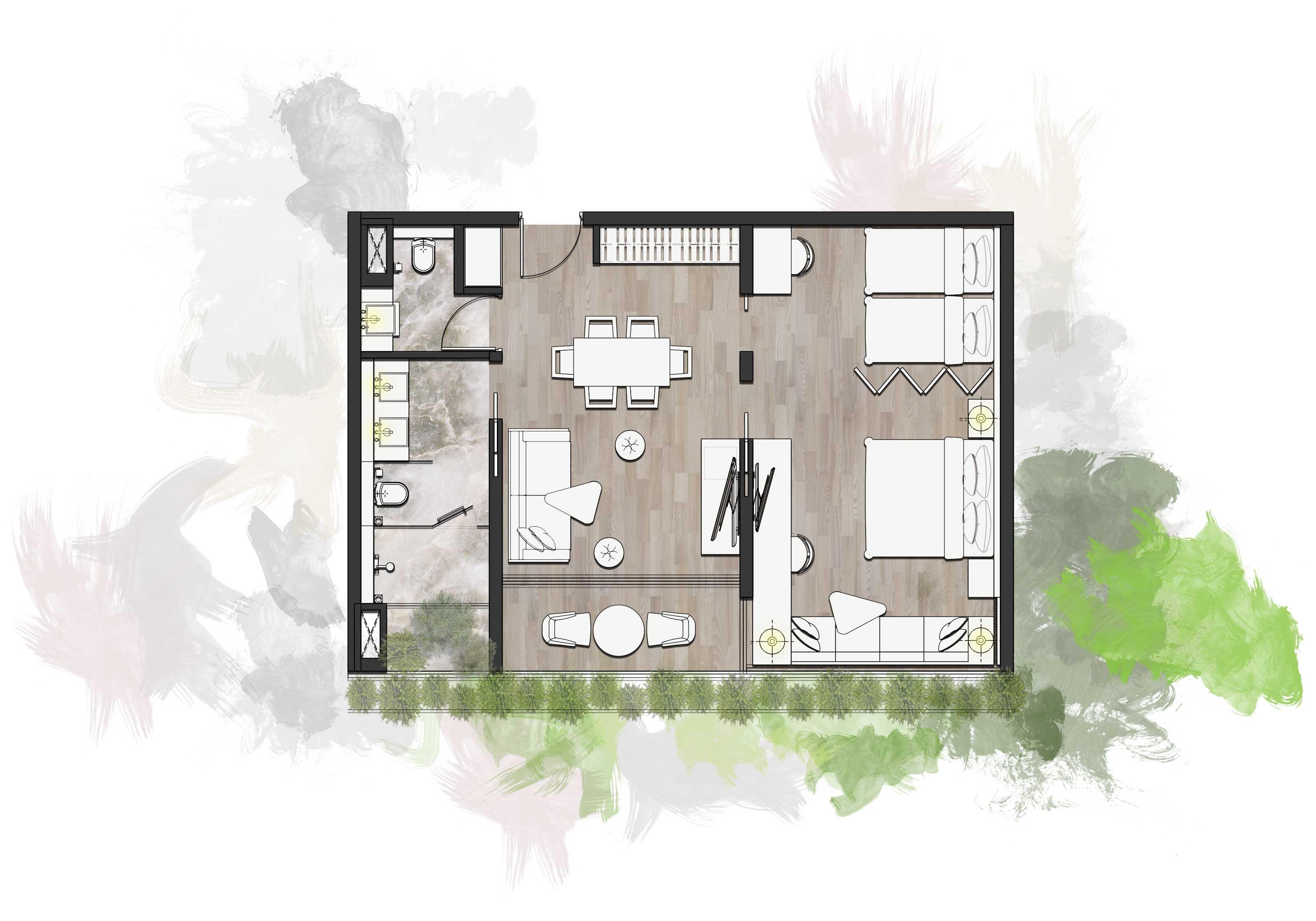 Family Suite Floorplan