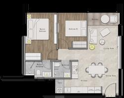 Juinagar Residences 2BR