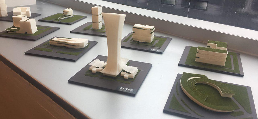 Physical models are powerful tools to communicate our design ideas to clients. 3D printing technologies are