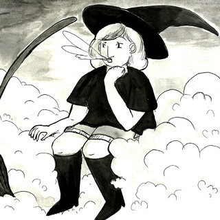 Inktober 2017 Zine - 'Cloud' Witch