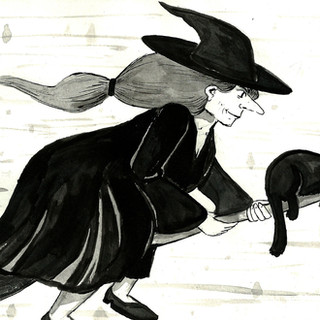 Inktober 2017 Zine - 'Swift' Witch