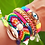 Thumbnail: Pulseira olho cravejado colors