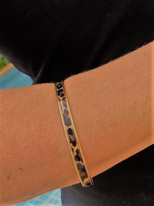 Bracelete Esmaltado Onça