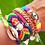 Thumbnail: Pulseira trançada color Lk