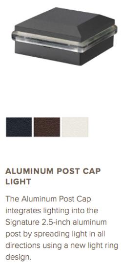 Trex Aluminum Post Cap Light