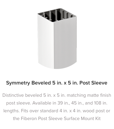 Fiberon Symmetry Railing Post Sleeve