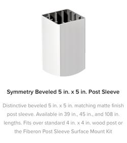 Fiberon Symmetry Railing Post Sleeve