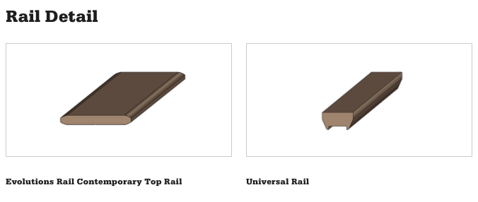 Evolutions Rail Contemporary Top Rail Detail