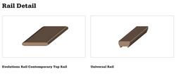 Evolutions Rail Contemporary Top Rail Detail