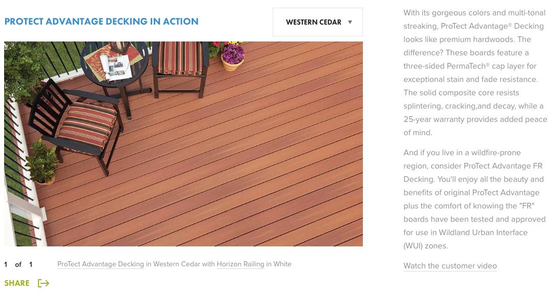 Fiberon ProTect Advantage Western Cedar