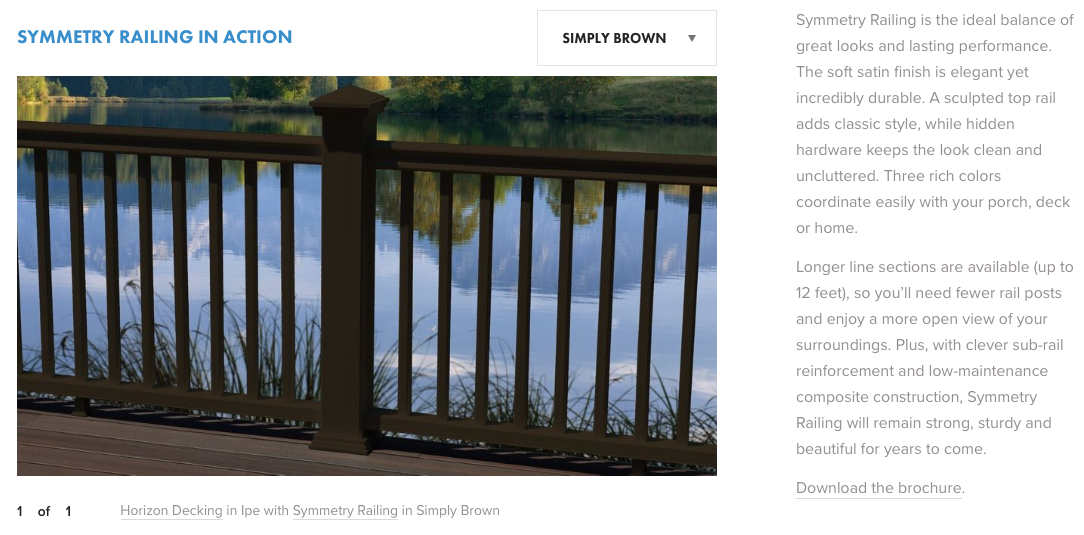 Fiberon Symmetry Railing Simply Brown