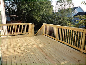 Michiana Deck Builders Wood Railing