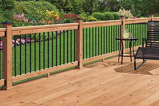 Michiana Deck Builders Wood Railing