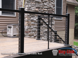 Key-Link Textured Black American Cable Rail