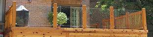 Michiana Deck Builders Wood Glass Railing