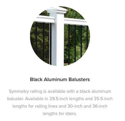Fiberon Symmetry Railing Black Aluminum Balusters