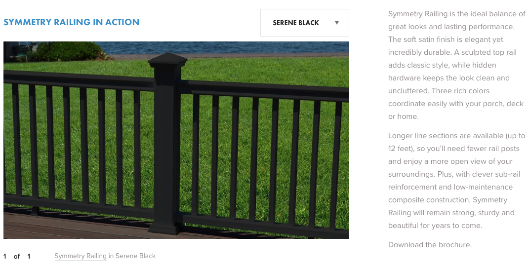 Fiberon Symmetry Railing Serene Black