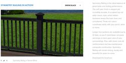 Fiberon Symmetry Railing Serene Black