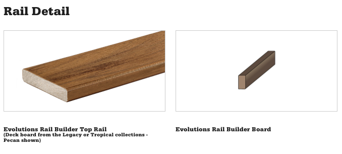 Evolutions Builder Rail Detail