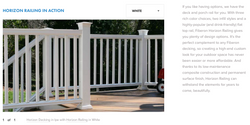 Fiberon Horizon Railing White