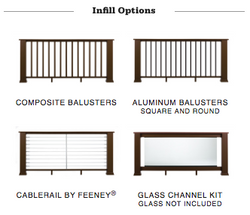 Evolutions Rail Contemporary Infill Options