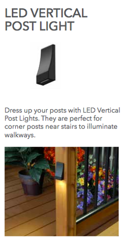 Fortress Vertical Post Light