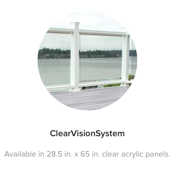 Fiberon Symmetry Railing Clear Vision System