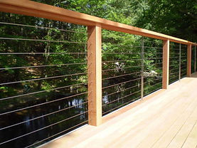 Michiana Deck Builders Wood Cable Railing