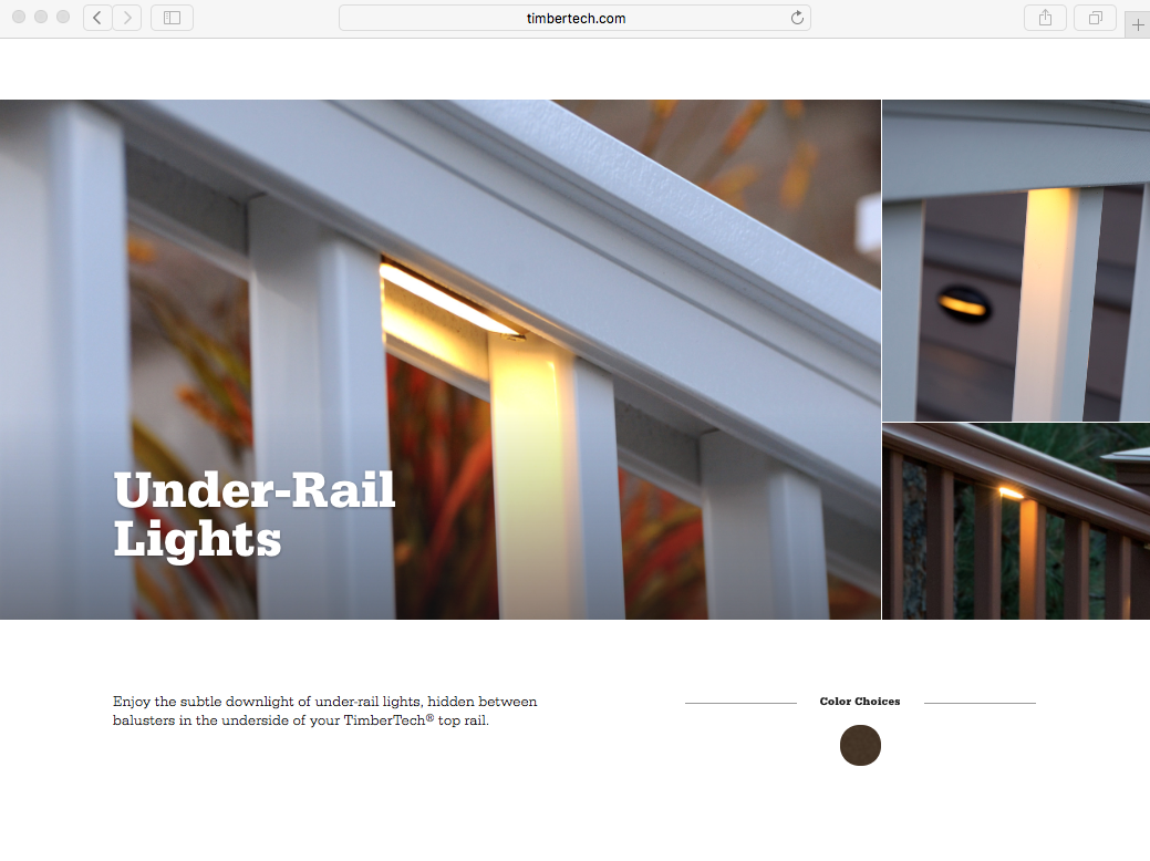 TIMBERTECH UNDER-RAIL LIGHTS