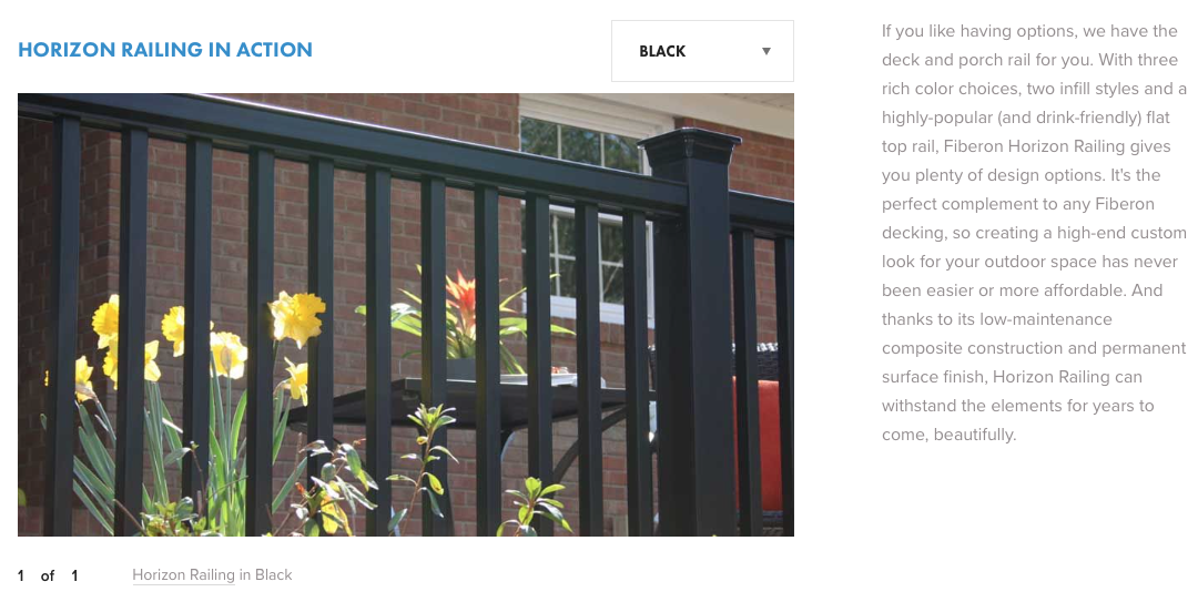 Fiberon Horizon Railing Black