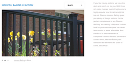 Fiberon Horizon Railing Black