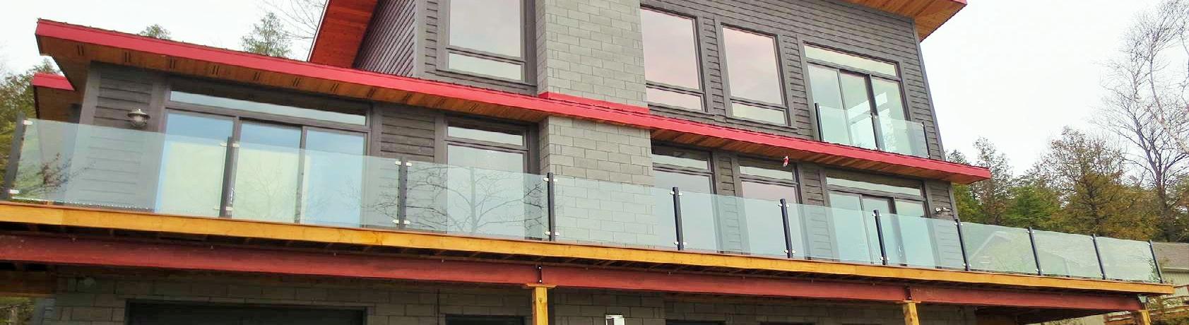 MDB Contemporary Glass Railing